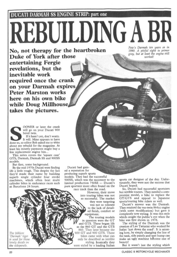 Ducati Darmah SS Engine Strip