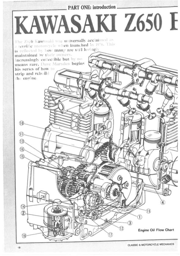 Kawasaki Z650 Engine Rebuild