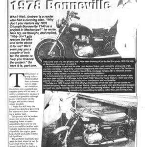 Triumph T140 Bonneville Restoration
