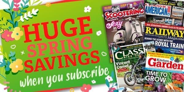 Spring sale across magazines